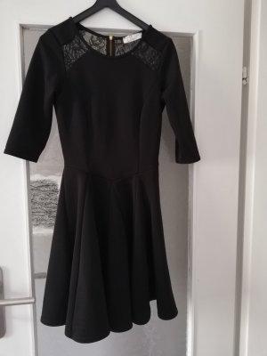 Kleines Schwarzes Reißverschluss Kleid midikleid closet 34 XS
