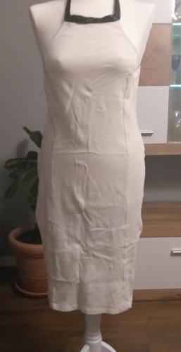 Vestido de cuello Halter blanco puro