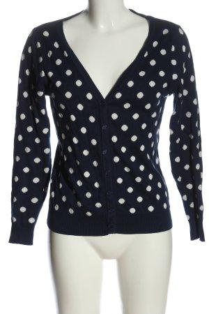 Kling Cardigan blue-white spot pattern casual look