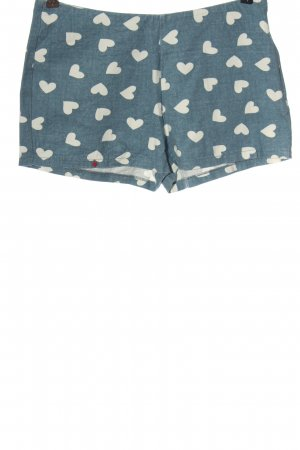 Kling Hot Pants blue-white allover print casual look