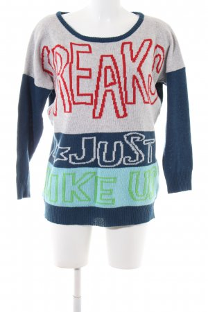 Kling Knitted Sweater printed lettering casual look