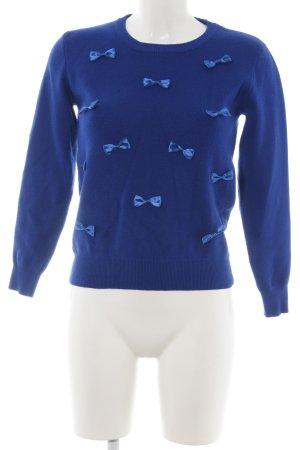 Kling Strickpullover blau Business-Look