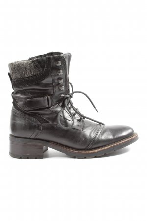 Klondike Lace-up Booties black-light grey casual look