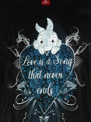 Klopfer Bambi Shirt Love is a song that never ends Herz Heart S Nastrovje Potsdam