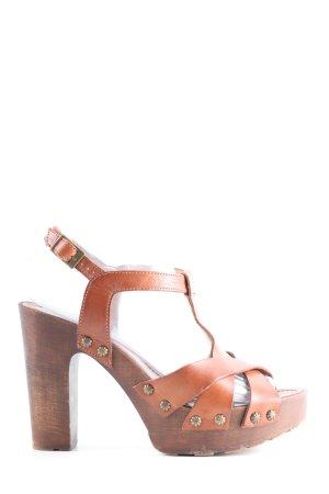 KMB High Heels braun Casual-Look