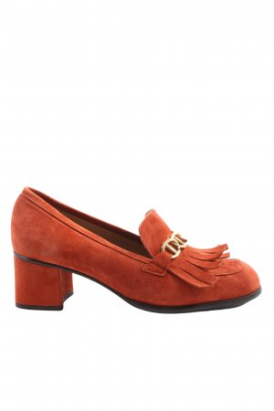 KMB Hochfront-Pumps rot Casual-Look