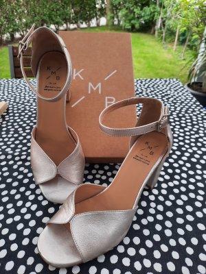 KMB Hochzeits Sandalette Gold Gr.39