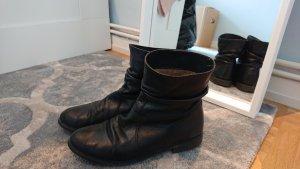 KMB Leder Halbstiefel Stiefelette schwarz 39