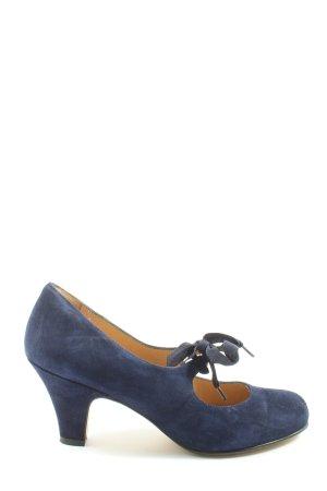 KMB Escarpins Mary Jane bleu style décontracté