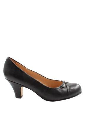 KMB Escarpins Mary Jane noir style d'affaires