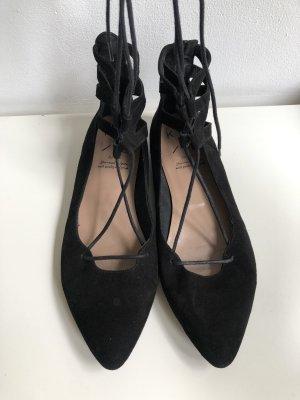 KMB Ballerina's met kant zwart