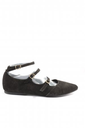KMB Slingback Ballerinas black-gold-colored casual look