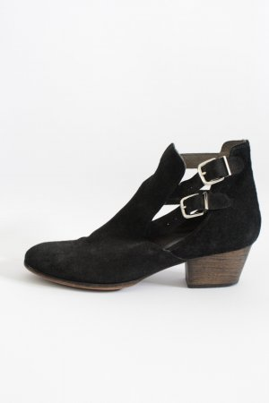 KMB Cut Out Booties black leather