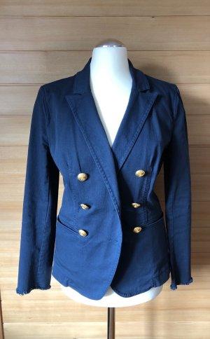Pinko Blazer en jean bleu foncé coton