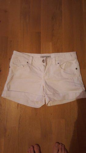 Clockhouse Pantalón corto de tela vaquera blanco Algodón