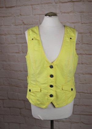 Knall Gelb Jeansweste Stretch Weste Cecil Größe 40 42 L Sommer Top Shirt