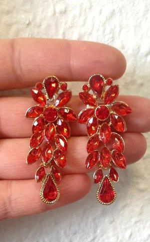 Zdobione kolczyki czerwony