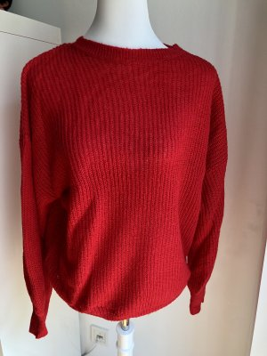 Clockhouse Knitted Sweater red-neon red