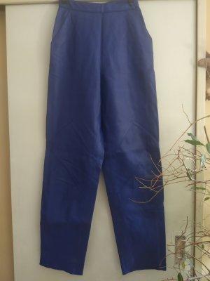Leren broek blauw