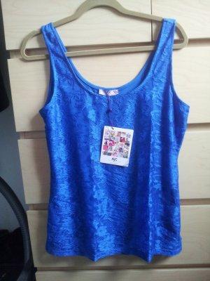 AJC Lace Top neon blue viscose