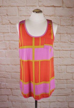 Knallbunt Longtop Top Shirt Vero Moda Größe M 36 38 Neon Pink Rosa Kiwi Orange Sommertop Tunika Hängerchen