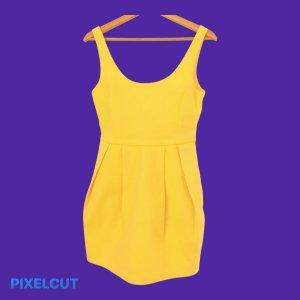 Knallgelbes Party/Sommer Kleid