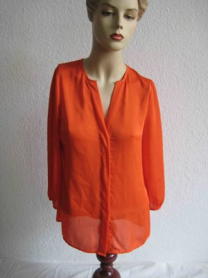 knallig orange Bluse von H&M, clean colour Chic