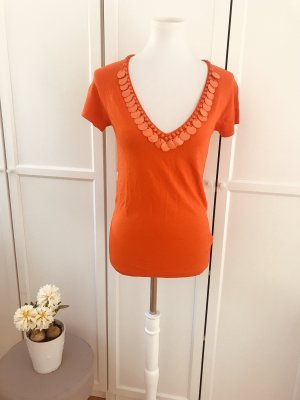 Blumarine V-Neck Shirt orange-neon orange