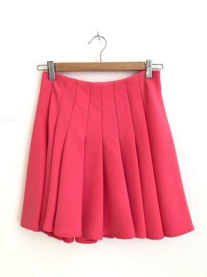H&M Plaid Skirt raspberry-red