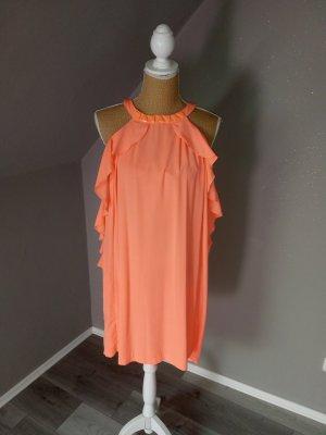 Midi-jurk neonoranje