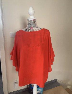 H&M Bluzka z falbankami czerwony