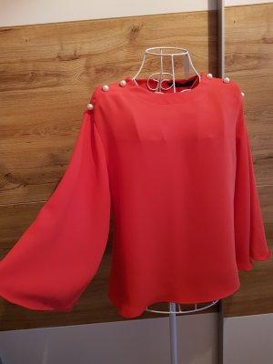 Knallrote Oversize Bluse Zara