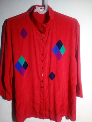 Yarell Blouse à col montant rouge