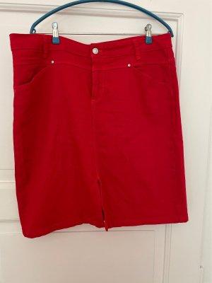 Marco Pecci Gonna di jeans rosso mattone