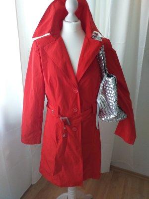Cappotto corto rosso Poliestere