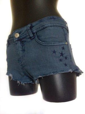 Sublevel Pantaloncino di jeans blu scuro Cotone