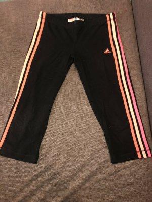 Adidas Pantalón pirata negro-rosa