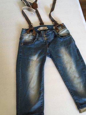 Pantalon 3/4 bleu-brun