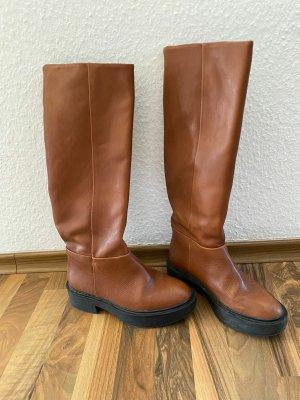 Mango Botas de invierno marrón Cuero