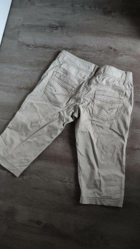 Spodnie 3/4 beżowy-szaro-zielony