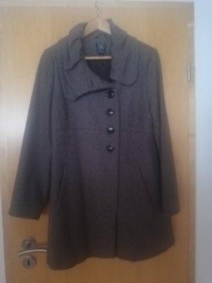 Comma Manteau oversized taupe-marron clair laine