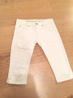 Knielange weiße Jean
