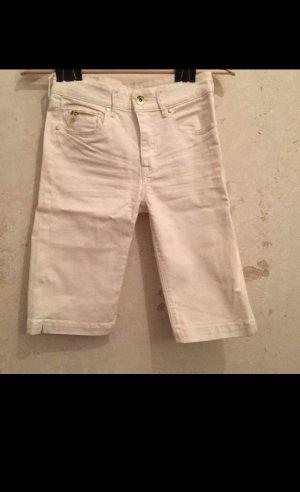 Knielange weiße skinny jeans