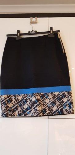 Apostrophe Jupe mi-longue noir-bleuet