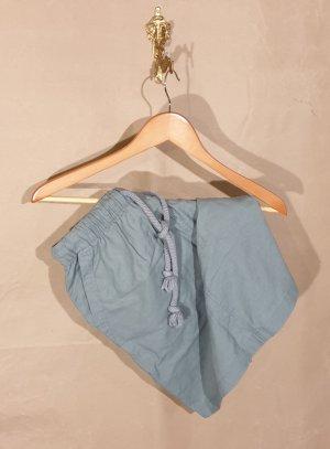 Esmara Falda de lino verde grisáceo-azul pálido tejido mezclado
