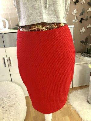 Spódnica ze stretchu czerwony