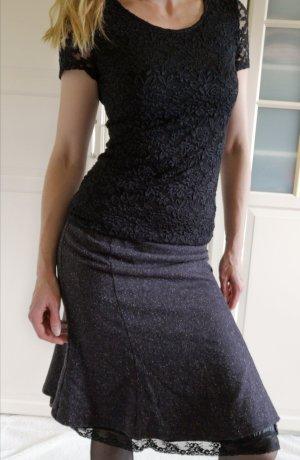 Orsay Falda de punto blanco-violeta amarronado