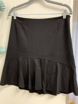 Set Flounce Skirt black viscose