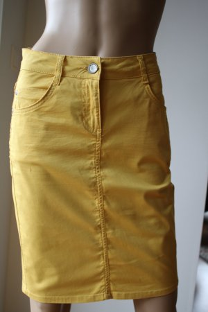 Kenny S. Cargo Skirt dark yellow cotton