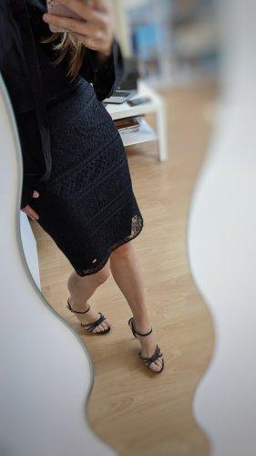 Tommy Hilfiger Falda de encaje negro